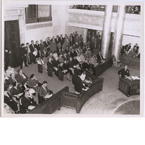 City council chamber in Oakland City Hall, circa 1958