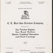 C. L. Best Gas Traction Co. Oakland, California