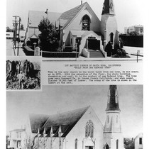 1st Baptist Church of Santa Rosa, California built from one tree