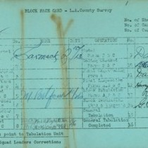 WPA block face card for household census (block 1002) in Los Angeles ...