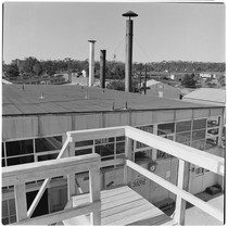 Camp Matthews, Bowling Alley Building, (roof top), Building No.353; view of B-Gate