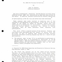 The 1983 PIK Program: An Overview
