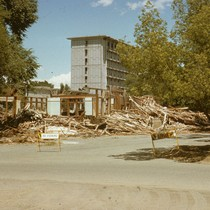 Demolition of the old viticulture building