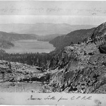 """Donner Lake from Central Pacific Railroad"""