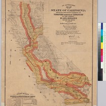 An authentic map of the State of California : showing the exact ...
