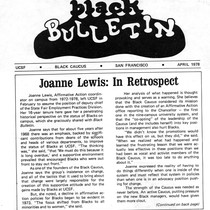 Black Bulletin: Joanne Lewis in retrospect