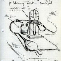Saxton T. Pope illustration of intratracheal insufflation apparatus