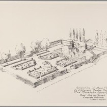 Adaptation of base plan to different garden style for Fox Movietone Studio, ...