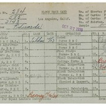 WPA bock face card for household census (block 2143) in Los Angeles ...