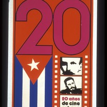 20 Años de Cine Cubano, Announcement Poster for