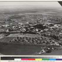 Davis campus. This 1967 aerial photograph looks to the northwest and shows ...