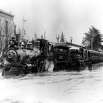 1906 Flood, Impact on Railroad, Visalia, Calif