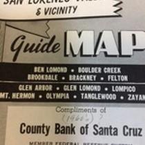 San Lorenzo Valley & Vicinity Guide Map