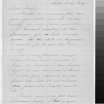 Letter, Tule Lake, Calif. to Lois Hunt, Los Angeles, Calif
