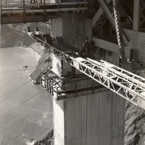 Golden Gate Bridge construction, September, 1935 [photograph]
