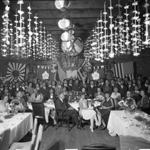 Photograph of a banquet in honor of Frank A. Miller