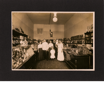 Hallerstede family pose inside their bakery and delicatessen on San Pablo Avenue ...