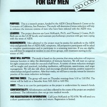 Stress Reduction Seminar for Gay Men flyer