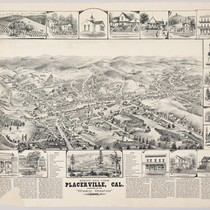 Bird's eye view of Placerville, Calif