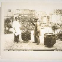 Chinese Vegetable Pedler [sic] in San Francisco, Cal. 5399. Taber photo. [Copy ...