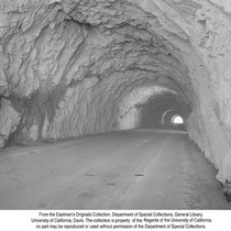 1,172 Ft. Tunnel Under Grizzly Dome on New Feather River Highway, Calif., ...
