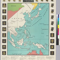 A)The Pacific Front; b+c)The Pacific Front cut-out sheets