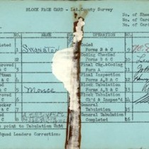WPA block face card for household census (block 1860) in Los Angeles ...