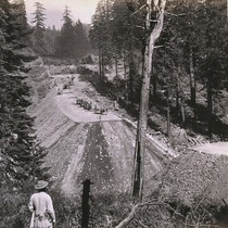 1098. Grading the Central Pacific Railroad, Sailors Spur and Fill, 12 miles ...