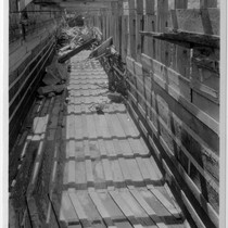 Adams auxillary flume, looking towards intake box, Inyo County (Image 64)