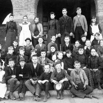 Photograph of a grammar school class from Grant School, Riverside, California