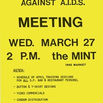 Bartenders Against AIDS meeting flyer