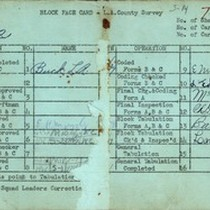WPA block face card for household census (block 1862) in Los Angeles ...