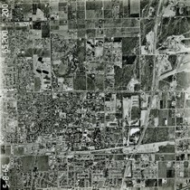 Aerial view of Claremont, 1965
