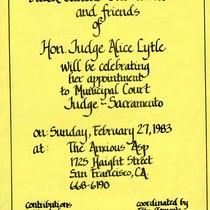Flyer - Celebrating Judge Alice Lytle