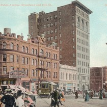 [Colorized photo of Macdonough Theatre]