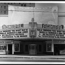 Admiral Theatre, Hollywood, street elevation