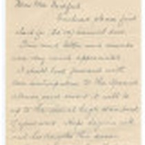 Leter from William J. Kitchener to Mrs. Bickford, September 26