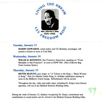 Flyer - Dr. MLK, Jr. Commemoration Week