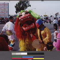 Dragon dance at the Tet parade, Little Saigon, Westminster, California