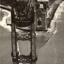Construction of the Golden Gate Bridge, April, 1935 [photograph]