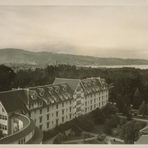[Bird's-eye view, Hotel Del Monte and grounds. Monterey.]