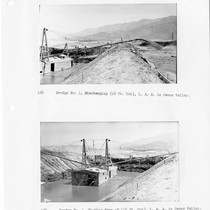 Dredge No. 1, Los Angeles Aqueduct in Owens Valley discharging, 16-ft. cut ...