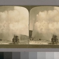 Old Faithful in action (150 ft.), the chief attraction of the Upper ...