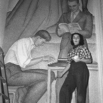 Belle Baranceanu working on a WPA mural entitled the Seven Arts