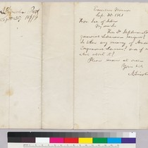 Abraham Lincoln to Secretary of Interior [Smith] regarding Dr. Stephen, congressional librarian