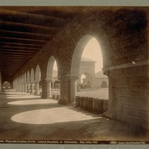 Arcade, West side looking North. Leland Stanford, Jr. University. Palo Alto, Cal. ...