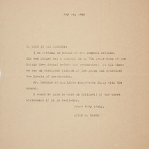 Letter from Afton D. Nance, 1942 May 12