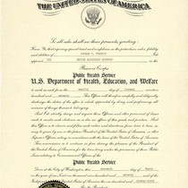 Donald P. Francis Public Health Service Officer appointment certificate