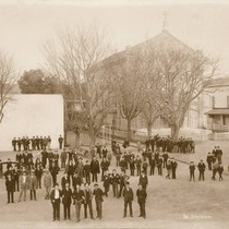 1st Division Students in the Yard, c.1892