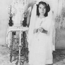 First Communion of Sabina Villasenor of 10781 Cedar St. in 1949